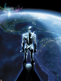 The Mighty Thor No.1: Silver Surfer Flying in Space, Looking at the Planet Wall Decal by Olivier Coipel