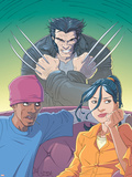 Jubilee No.6 Cover: Jubilee and Wolverine Plastic Sign by Casey Jones