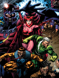 X-Men: Legacy No.209 Cover: Toad, Quicksilver, Scarlet Witch and Magneto Plastic Sign by David Finch