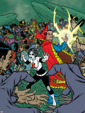 X-Statix Presents: Dead Girl No.1 Cover: Dead Girl and Dr. Strange Wall Decal by Nick Dragotta