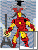 X-Statics No.24 Cover: Iron Man and Mr. Sensitive Print by Michael Allred