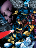 X-Men: Legacy No.208 Cover: Cyclops, Iceman, Marvel Girl, Beast and Angel Plastic Sign by David Finch