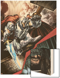 Journey Into Mystery No.628: Thor Flying Wood Print by Whilce Portacio