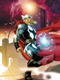 Thor No.615 Cover: Thor Walking Plastic Sign by Joe Quesada