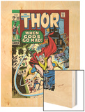 Thor No.180 Cover: Thor Wood Print by Neal Adams