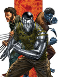 Uncanny X-Men No.496 Cover: Colossus, Nightcrawler and Wolverine Plastic Sign by Mike Choi
