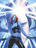 Mystique No.15 Cover: Mystique and Professor X Plastic Sign