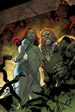 All-New X-Men 9 Cover: Mystique, Sabretooth Plastic Sign by Stuart Immonen