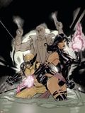 Uncanny X-Men No.520 Cover: Psylocke, Wolverine and Fantomax Plastic Sign by Terry Dodson