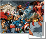 X-Men Forever 2 No.15: Storm ,Scarlet Witch, Quicksilver, Captain America, Thor, Vision, and Others Posters by Andy Smith