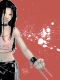 X-23 No.1 Cover: X-23 Plastic Sign by Billy Tan