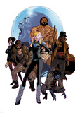 X-Treme X-Men 12 Cover: Dazzler, Hercules, Summers, Scott, Nightcrawler, Howlett, James, Sage Wall Decal by Kalman Andrasofszky