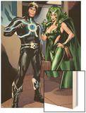 X-Factor No.230: Havok and Polaris Wood Print by Emanuela Lupacchino