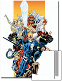 The Official Handbook Of The Marvel Universe Teams 2005 Group: Captain Britain Prints by Pablo Raimondi