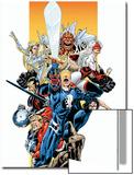 The Official Handbook Of The Marvel Universe Teams 2005 Group: Captain Britain Prints by Pablo Raimondi