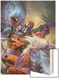 Magneto: Not A Hero No.4 Cover: Magneto Fighting Prints by Clay Mann