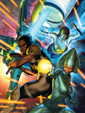 X-Men: Kingbreaker No.2 Cover: Lilandra, Grey and Rachel Plastic Sign by Brandon Peterson