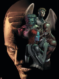 Dark X-Men No.4 Cover: Mystique, Omega, Dark Beast and Mimic Plastic Sign by Mike Choi