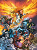 X-Men: Messiah Complex - Mutant Files Cover: Phoenix, Magik and Madrox Plastic Sign by Scott Kolins