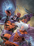 Magneto: Not A Hero No.4 Cover: Magneto Fighting Plastic Sign by Clay Mann