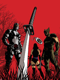 Deadpool No.50 Cover: Fantomax, Wolverine, Psylocke Plastic Sign by Dave Johnson