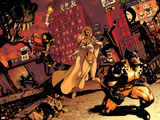Astonishing X-Men No.36 Cover: Wolverine, Cyclops, Armor, and Emma Frost Wall Decal by Jason Pearson