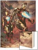 X-Factor No.230: Iron Man Wood Print by Emanuela Lupacchino
