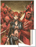 Deadpool No.50: Typhoid Mary with a Sword Wood Print by Carlo Barberi