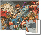 X-Men Forever 2 No.15: Storm ,Scarlet Witch, Quicksilver, Captain America, Thor, Vision, and Others Print by Andy Smith