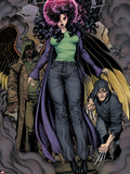 Ultimate X No.4: Jean Grey Hovering, Surrounded by Smoke Plastic Sign by Arthur Adams