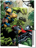 X-Men Vs Hulk No.1 Cover: Wolverine, Colossus and Hulk Prints by David Yardin