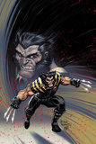 Ultimate Comics Wolverine 1 Cover: Wolverine Plastic Sign by Arthur Adams
