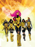 X-Men: Pixie Strikes Back No.1 Cover: Pixie, X-23, Blindfold, Armor and Mercury Plastic Sign by Stuart Immonen