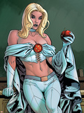 Uncanny X-Men Annual No.2 Cover: Emma Frost Plastic Sign by Yanick Paquette