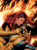 X-Men: Phoenix - End Song No.3 Cover: Phoenix and Wolverine Plastic Sign by Greg Land