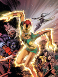 Uncanny X-Men No.457 Cover: Phoenix, X-23, Psylocke, Nightcrawler and Storm Charging Signes en plastique rigide