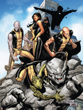 Young X-Men No.10 Cover: Anole, Rockslide, Greymalkin, Dust, Mirage, Sunspot and Ink Plastic Sign by Billy Tan