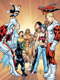 Alpha Flight 11 Cover: Puck Plastic Sign by Clayton Henry