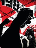 X-Men: The 198 No.3 Cover: X-Men Flying Wall Decal by Jim Muniz