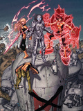 Nation X No.3 Cover: Magik, Danger, Armor and Anole Plastic Sign by Dustin Weaver