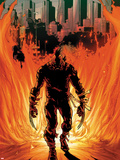 Daken: Dark Wolverine No.21 Cover: Walking Flaming Plastic Sign by Giuseppe Camuncoli