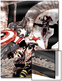 Wolverine Captain America No.2 Cover: Wolverine and Captain America Fighting Prints by Tom Derenick