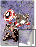 Wolverine Captain America No.4 Cover: Wolverine and Captain America Prints by Tom Derenick