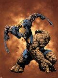 X-Men / Fantastic Four No.4 Cover: Thing and Wolverine Wall Decal by Pat Lee