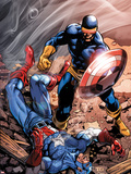 X-Men Forever 2 No.15 Cover: Cyclops and Captain America Plastic Sign by Tom Grummett