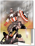 Wolverine Captain America No.1 Cover: Wolverine and Captain America Print by Tom Derenick