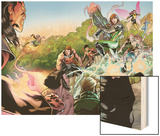 X-Men Legacy No.262: Exodus, Rogue, Wolverine, Hope, Surge, Pixie, Dust, Primal, Velocidad, Zero Wood Print by David Baldeon