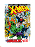 X-Men No.66 Cover: Hulk, Beast, Iceman and Angel Plastic Sign by Sal Buscema