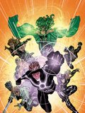 X-Factor No.233 Cover: Havok, Polaris, Longshot, Shatterstar, Siryn, and M Plastic Sign by David Yardin