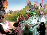 X-Men Legacy No.262: Exodus, Rogue, Wolverine, Hope, Surge, Pixie, Dust, Primal, Velocidad, Zero Plastic Sign by David Baldeon